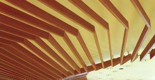 Hölzerne Befestigung der abstrakten Decke Lizenzfreies Stockbild