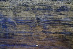 Hölzerne Beschaffenheit behandelt mit Ebenholzfleck und Goldfarbe stockfoto