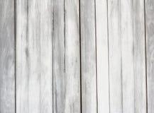 Hölzerne Beschaffenheit - glänzende hölzerne Wand der weißen leeren Plankenoberfläche Stockfoto