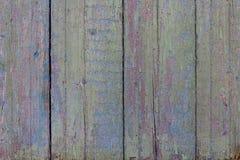 Hölzerne Beschaffenheit mit alter Farbe Die Beschaffenheit des Baums wird gefärbt Alte hölzerne Bretter mit bestrahlter Farbe abs Lizenzfreie Stockfotos