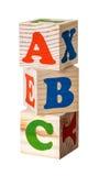 Hölzerne Blöcke Alphabet Lizenzfreies Stockbild
