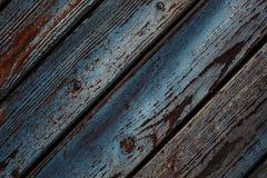 hölzerne blaue Lackoberfläche Lizenzfreies Stockbild