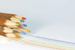 Hölzerne Bleistifte Stockfoto