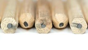 Hölzerne Bleistifte lizenzfreie stockbilder