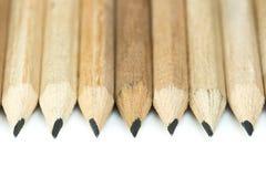 Hölzerne Bleistifte lizenzfreie stockfotografie