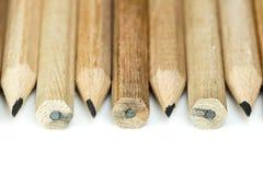 Hölzerne Bleistifte stockfotos