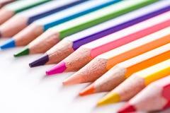 Hölzerne Bleistifte der Farbe Lizenzfreie Stockfotografie
