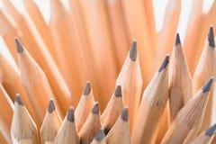 Hölzerne Bleistifte der Nahaufnahme Lizenzfreie Stockfotos