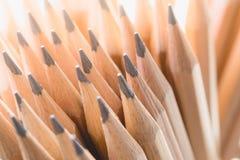 Hölzerne Bleistifte der Nahaufnahme Stockbild