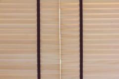 Hölzerne blinde Beleuchtung Browns im Freien Lizenzfreie Stockbilder