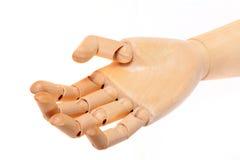 Hölzerne blinde Hand Stockbilder