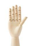 Hölzerne blinde Hand mit fünf Fingern oben Lizenzfreie Stockbilder