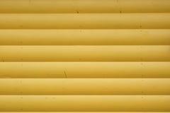Hölzerne Blockhaus-Gelb-Wand-horizontaler Hintergrund Lizenzfreies Stockbild