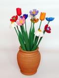 Hölzerne Blumen. Stockbild