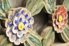 Hölzerne Blumen Stockfoto