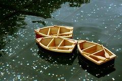Hölzerne Boote Stockfoto