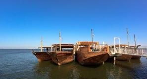 Hölzerne Boote Stockfotografie