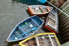 Hölzerne Boote Stockbild