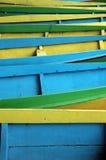 Hölzerne Boote des Musters Lizenzfreies Stockbild