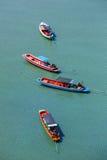 Hölzerne Boote im Meer Lizenzfreies Stockbild