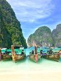 Hölzerne Boote in Thailand Lizenzfreies Stockfoto