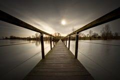 Hölzerne Brücke Lizenzfreies Stockfoto