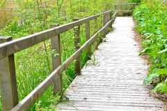 Hölzerne Brücke Lizenzfreies Stockbild