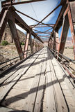 Hölzerne Brücke Lizenzfreie Stockfotos