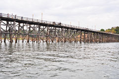 Hölzerne Brücke, Thailand Lizenzfreies Stockbild