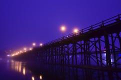 HÖLZERNE Brücke VON THAILAND Lizenzfreies Stockfoto