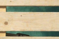 Hölzerne Bretter über Meerwasser Stockfotografie