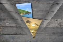 Hölzerne Brettwand der Schale für die Bilder Lizenzfreie Stockfotos