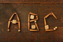 Hölzerne Buchstaben Stockfotos
