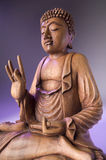 Hölzerne Buddha-Statue Lizenzfreies Stockbild