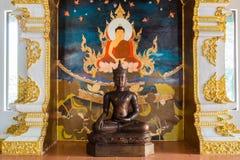 Hölzerne Buddha-Statue Stockbilder