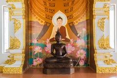 Hölzerne Buddha-Statue Lizenzfreie Stockbilder