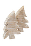 Hölzerne christmastrees Stockfoto