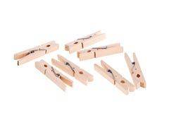 Hölzerne Clothespins. Stockbilder