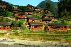 Hölzerne Dörfer Stockbild