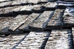 Hölzerne Dachbeschaffenheit der alten Weinlese Stockfoto