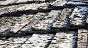 Hölzerne Dachbeschaffenheit der alten Weinlese Stockbild