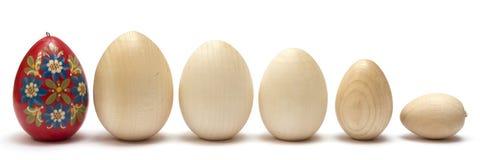 Hölzerne Eier Stockfotos