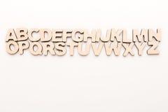 Hölzerne englische Buchstaben stockfotos