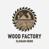 Hölzerne Fabrik Logo Design Inspiration lizenzfreie abbildung