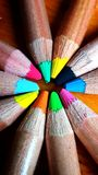 Hölzerne Farben Lizenzfreie Stockbilder