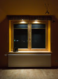 Hölzerne Fenster Stockfoto