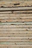 Hölzerne Fensterläden schließende Bretter Stockfoto
