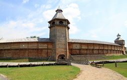 Hölzerne Festung Stockbild