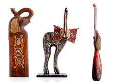 Hölzerne Figürchen, dekorative Figürchen, Elefant, stockbild