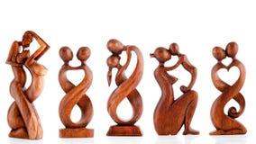 Hölzerne Figürchen, dekorative Figürchen, menschliche Figürchen, lizenzfreie stockfotografie